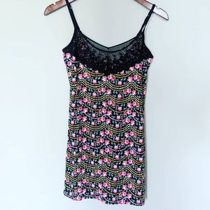 Free People Black Lace Floral Slip
